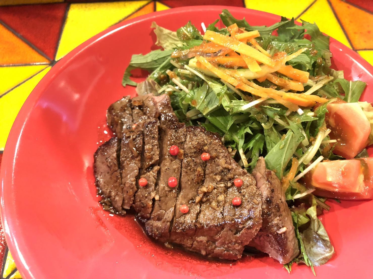 牛ランプ肉のステーキ和風ソース